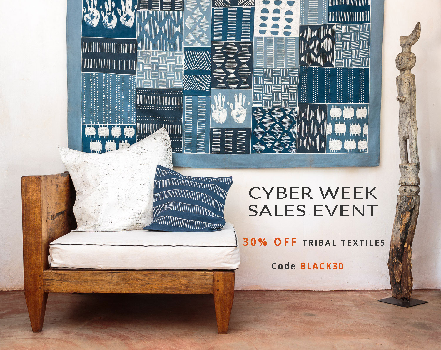 Black Friday Early Access: 30% off Tribal Textiles